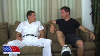 Lifeguard and Petty Officer Compare Muscles