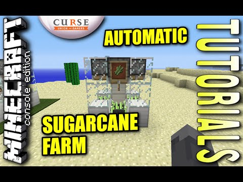 Minecraft PS4 - AUTOMATIC SUGARCANE FARM - How To - Tutorial - ( PS3 / XBOX ) WII