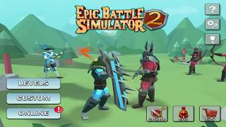 Epic Battle Simulator 2 All Boss Stages(10-80)