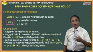 Bài giảng Hóa 11 - Hóa học hữu cơ - Bài 8. Phân loại & gọi tên hợp chất hữu cơ