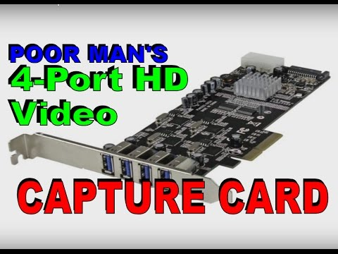 Poor Man's 4-Port HD Capture Card and vMix 17 News
