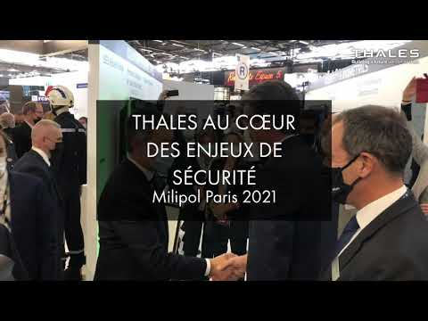 MilipolParis 2021: Visite de Gérald Darmanin, Ministre de lIntérieur, sur le stand Thales.