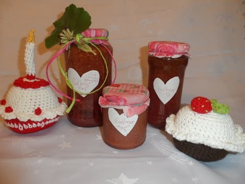 Meine Leckere Erdbeer Marmelade selber machen ,Grundrezept,Samt+Stückchen-ganz EINFACH