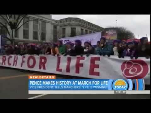 Kristan Hawkins On The Today Show Talking About The March For Life