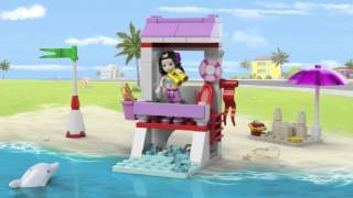 Lego Friends   41028   Emma's Lifeguard Post   Lego 3d Review
