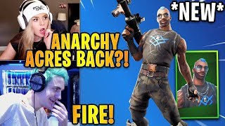 "Streamers React to the *NEW* ""Anarchy Agent"" Skin! *ANARCHY ACRES BACK* 