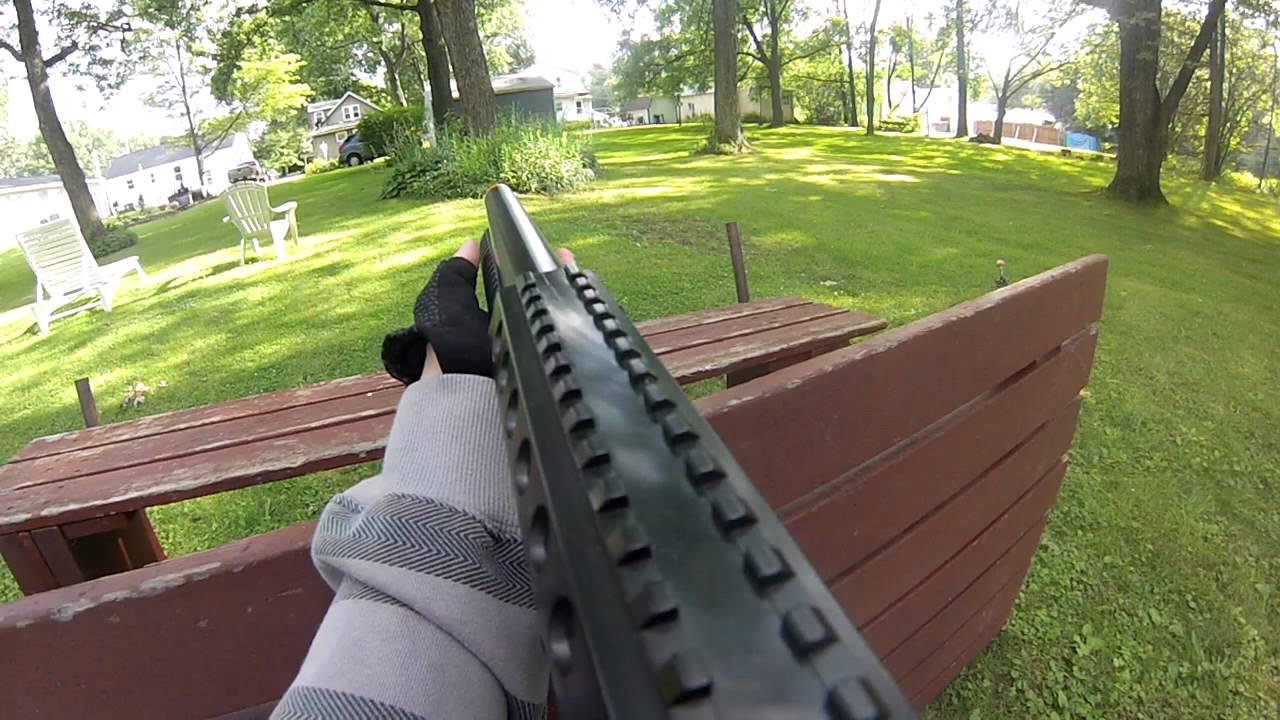 Airsoft Backyard War backyard airsoft war #11 (cyma ak47, shotgun) - youtube