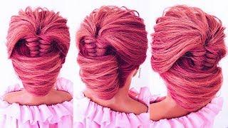 """Необычная  прическа """"ракушка"""" на средние волосы. ★ How to: Braided Updo"""