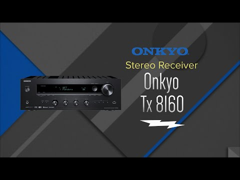Onkyo Black 2 Channel Network Stereo Receiver TX-8160 - Overview