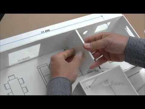 Building Foam board Models Making House Scale Model PART 4