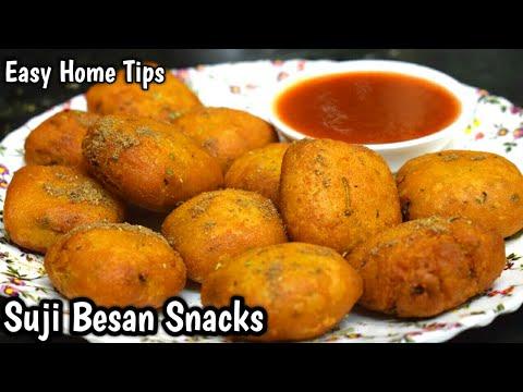 बनाये झटपट लाजवाब सूजी बेसन स्नैक्स Suji Besan Snacks Recipe  Breakfast Recipes Sooji Recipes