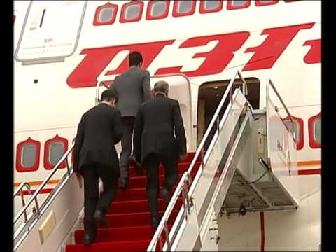 PM Modi's arrival at Xi'an Xianyang International Airport(CHINA)