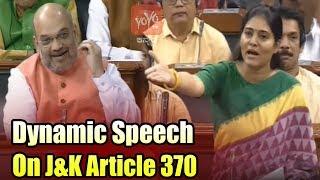 Anupriya Patel's Dynamic Speech On J&K Article 370 in Lok Sabha   Parliament Live   YOYO TV Kannada