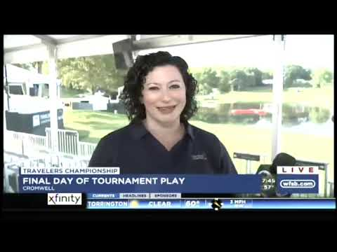 Dr  Stephanie Alessi-LaRosa live with WFSB from the Travelers Championship