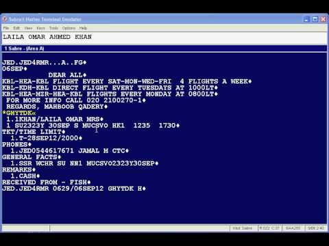 Sabre Training (PNR with additional fields)1.3 - YouTube