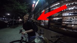 Bike ride with a dog exploring NYC at night! Pt. 1