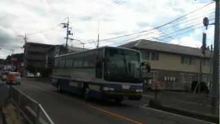 中国自動車道から三次バスセンターに向かう備北交通広島線高速バス