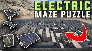 FORCING PLAYERS into my HUGE ELECTRIC MAZE TRAP - Rust Electricity