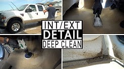 DIRTY WORK TRUCK CLEANING || Full Interior and Exterior Dirty Car Detailing of a Ford Truck!