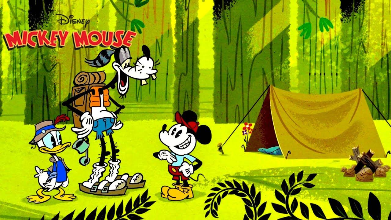 Roughin' It | แคมป์ในป่า | Mickey Mouse Shorts (พากย์ไทย) มิคกี้เมาส์