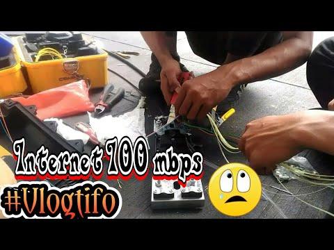 Instalasi INTERNET high speed 100 Mbps