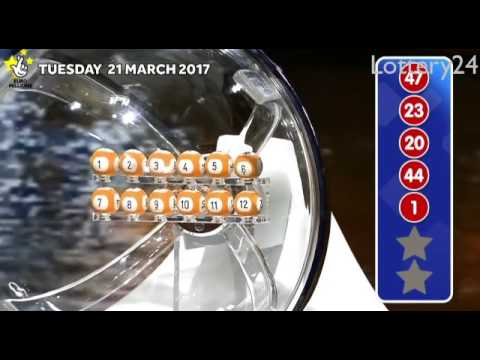 2017 03 21 Euro Millions Number and draw results