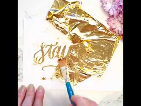 How to Gold Foil Your Own Greeting Cards and Invitations