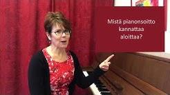 Mistä pianonsoitto kannattaa aloittaa?