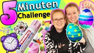 5 Minuten DIY CHALLENGE | EIER DEKORIEREN Eva vs. Kathi Wer hat die schönsten Ostereier? Osterideen