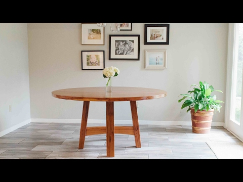 Building A Round Dining Room Table In Texas Pecan