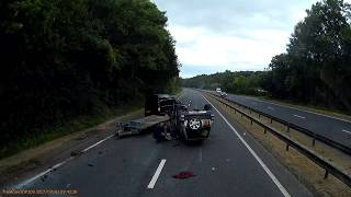 Crash on the A249 in England caught on dashcam