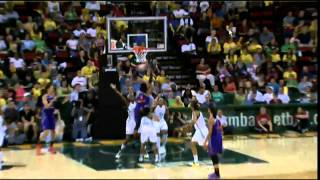 Brittney Griner Two Handed Dunk After the Whistle