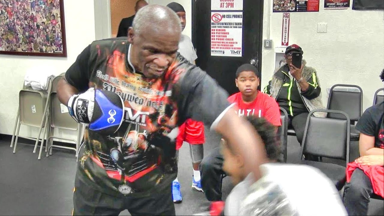 The fastest Floyd Mayweather Sr. yet? Floyd & Darren Cunningham just broke the sound barrier
