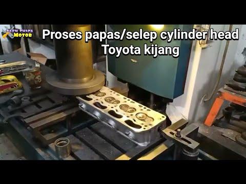 PROSES BUBUT MERATAKAN/PAPAS CYLINDER HEAD TOYOTA KIJANG#bayuputramotor