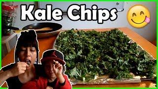 Crunchy Kale Chips Recipe! Honey, Garlic And Salt Flavor