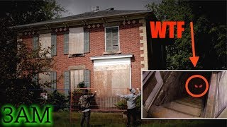 SNEAKING INTO A DEMONIC HAUNTED HOUSE (WE FOUND THIS!!) 3AM CHALLENGE