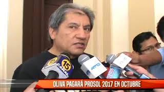 OLIVA PAGARÁ PROSOL 2017 EN OCTUBRE
