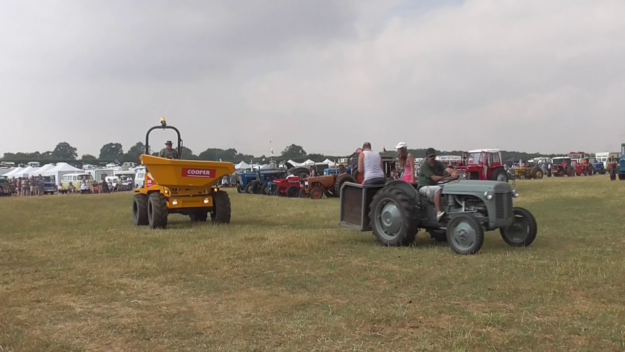 Grand Parade of tractor & autotrucks, West Oxon Staeam & Vintage Rally, July 2018
