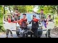 LTT Game Nerf War: Winter Warriors SEAL X Fight Criminal Group Nerf Guns Alliance Bandits