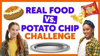Real Food Vs Potato Chip Challenge With... @ www.OfficialVideos.Net