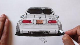 Как нарисовать машину БМВ (Ehedov Elnur) How to draw a car BMW