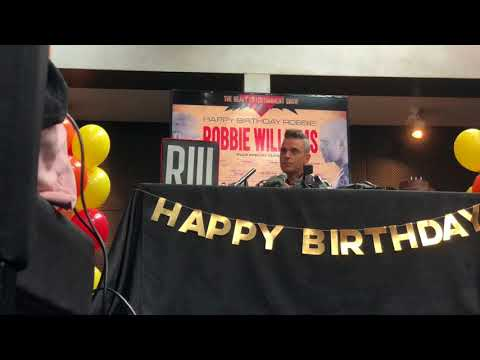 Robbie Williams press conference