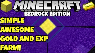 Minecraft Efficient Hybrid GOLD/EXP FARM Tutorial Bedrock Edition Better Together PC PE MCPE Xbox