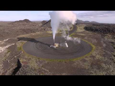 Verne Global - Geothermal Power - Drone Footage of Borehole