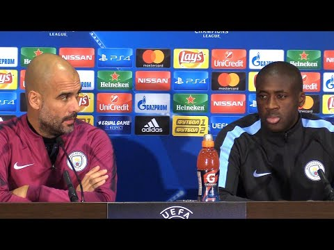 Pep Guardiola & Yaya Toure Full Pre-Match Press Conference - Shakhtar Donetsk v Manchester City