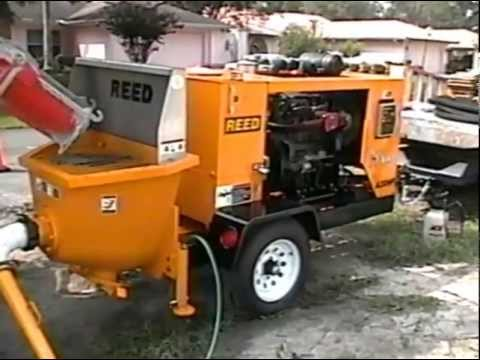 REED A30HP Rockmaster Concrete Pump