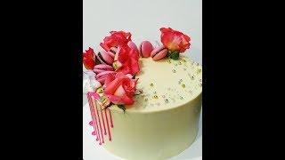 Самый вкусный рецепт крема для без мастичного покрытия торта, тренд 2019 Юлия Клочкова.