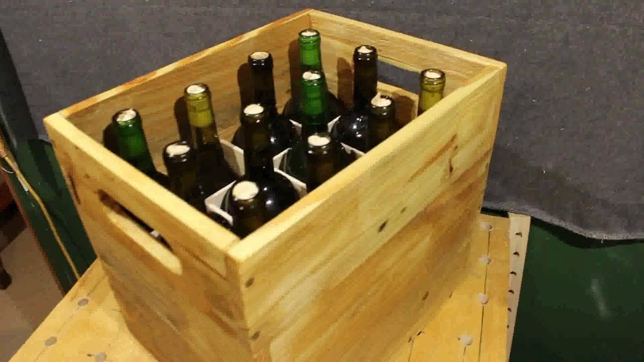 Pallet wood project wine storage crate youtube What to do with wine crates