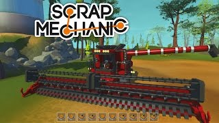 scrap mechanic case ih combine harvester kombajn farming simulator industrial vehicles