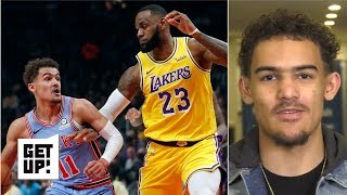 Trae Young on going head-to-head with LeBron James and competing with Luka Doncic | Get Up!